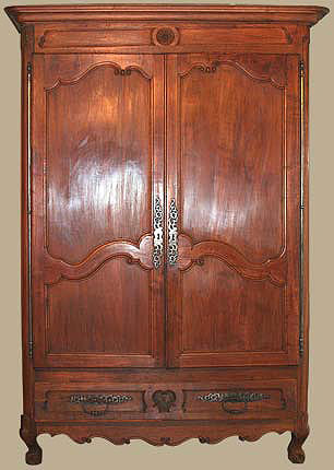 armoire louis xv notre brocante ebenisterie. Black Bedroom Furniture Sets. Home Design Ideas